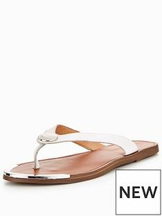 dune-lagos-branded-flat-sandal-white