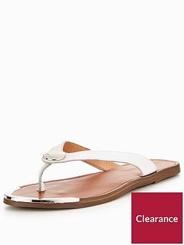dune-london-lagos-branded-flat-sandal-white