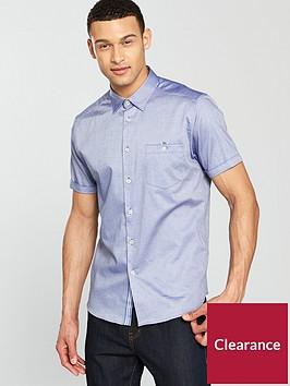 ted-baker-short-sleeve-oxford-shirt-bluenbsp