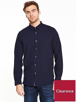 ted-baker-long-sleeve-waffle-stitch-shirt-navynbsp
