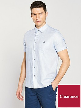 ted-baker-short-sleeve-two-tone-linen-shirt