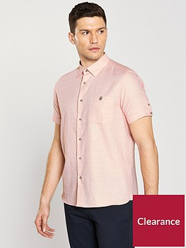 ted-baker-short-sleeve-two-tone-linen-shirt