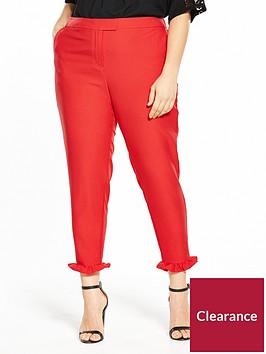 v-by-very-curve-ruffle-hem-trouser-rednbsp