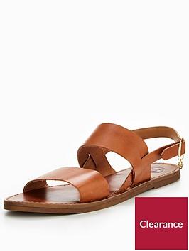 dune-london-lowpez-double-strap-flat-sandal-tan