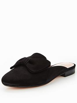 Dune London Genela Bow Detail Backless Loafer