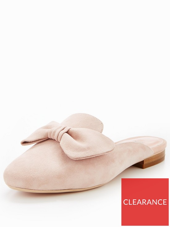 2a3abc585 Dune London Genela Bow Detail Backless Loafer