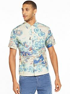 replay-hawaiian-print-short-sleeved-shirt