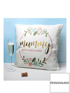 personalised-floral-wreath-cushion-cover