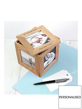 personalised-small-oak-photo-cube