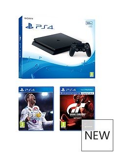 playstation-4-500gb-black-slim-console-with-fifa-18-gt-sport-and-extra-dualshock-controller