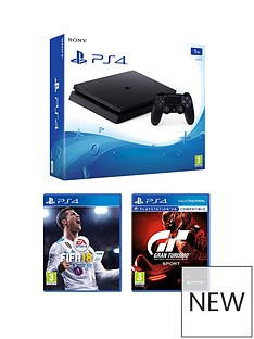 playstation-4-1tb-black-slim-console-with-fifa-18-and-gt-sport