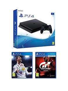 playstation-4-slim-1tbnbspconsole-black-with-fifa-18-and-gt-sport-plus-optional-extra-controller-andor-12-months-playstation-network