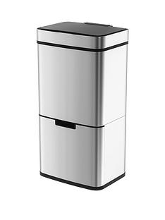 morphy-richards-pro-75l-sensor-bin-with-2-recycle-bins-stainless-steel