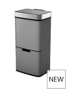 morphy-richards-pro-75l-sensor-bin-with-2-recycle-bins-titanium
