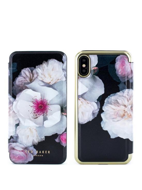 802a6d308 Ted Baker Mirror Folio Case iPhone X – NALIBISE - Chelsea Black ...