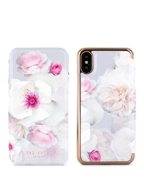 ea4a88ce4df0 Ted Baker Mirror Folio Case iPhone X – NALIBISE - Chelsea Grey ...
