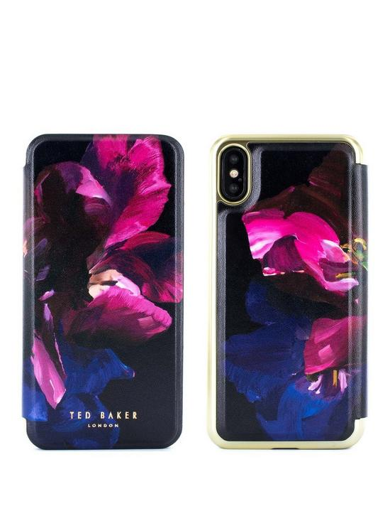 8d142d2d081518 Ted Baker Mirror Folio Case iPhone X – SHELEEN - Impressionist Bloom ...