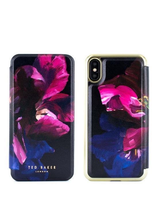 buy online 73c85 43ac8 Mirror Folio Case iPhone X – SHELEEN - Impressionist Bloom
