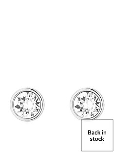 karen-millen-logo-stud-earrings-made-with-swarovski-elements-silver-tone