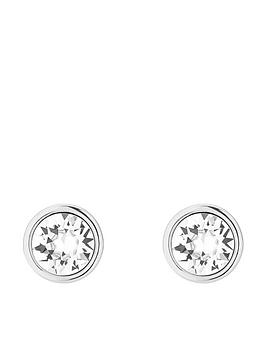 karen-millen-logo-stud-earrings-made-with-swarovski-elements-silver-tone