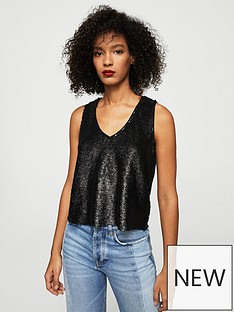 mango-sparkly-sequin-party-top-black