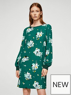 mango-printed-shift-dress