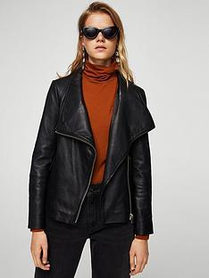 mango-leather-jacket-black