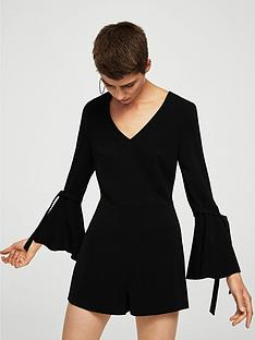 mango-fluted-sleeve-playsuit
