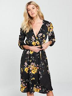 v-by-very-printed-wrap-midi-dress