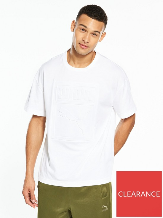 053ac869170 Puma Archive Embossed Print T-shirt | very.co.uk