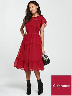 v-by-very-lace-trim-midi-dress