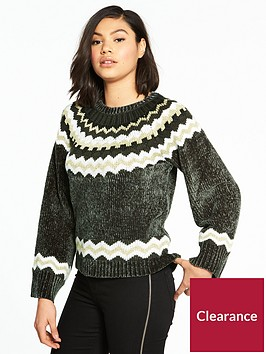 river-island-river-island-chenille-christmas-jumper--charcoal