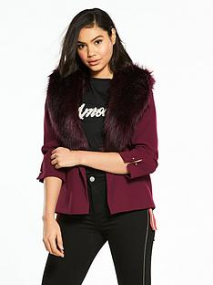 river-island-fur-collar-blazer--oxblood