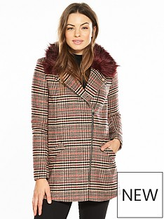 river-island-river-island-herritage-faux-fur-collar-coat--brown-check