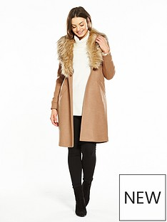 river-island-faux-fur-collar-coat--camel