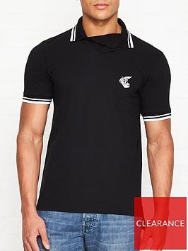 vivienne-westwood-anglomania-orb-logo-pique-polo-shirt-black