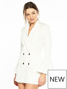 river-island-river-island-tux-playsuit--white