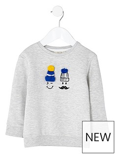 river-island-mini-boys-grey-doodle-face-pom-pom-sweatshirt