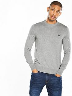 fred-perry-classic-cotton-crew-neck-knit