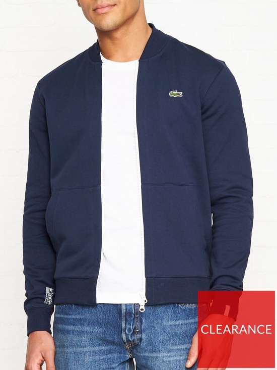 f57c316ec7 LACOSTE LIVE Zip Up Sweatshirt Bomber Jacket - Navy | very.co.uk