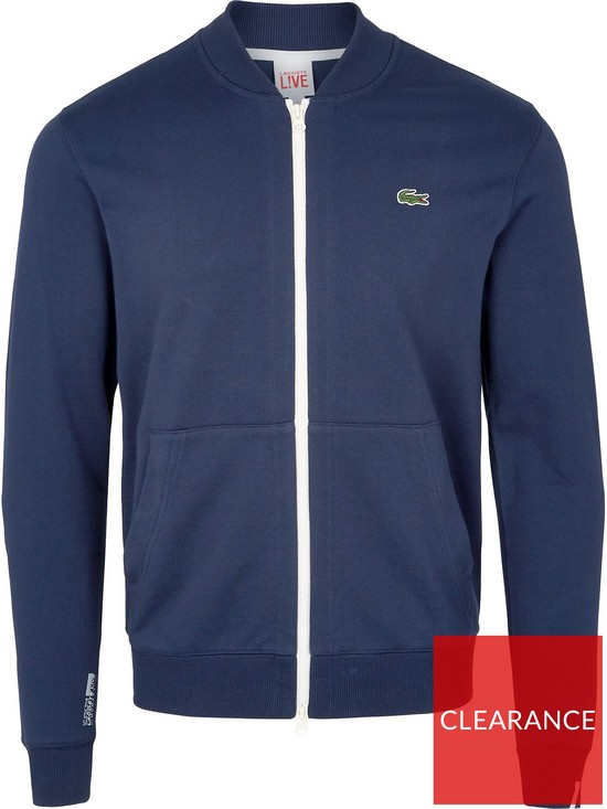 daded0b83b ... LACOSTE LIVE Zip Up Sweatshirt Bomber Jacket - Navy. View larger