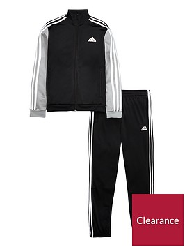 adidas-boys-tibero-tracksuit-blackgrey