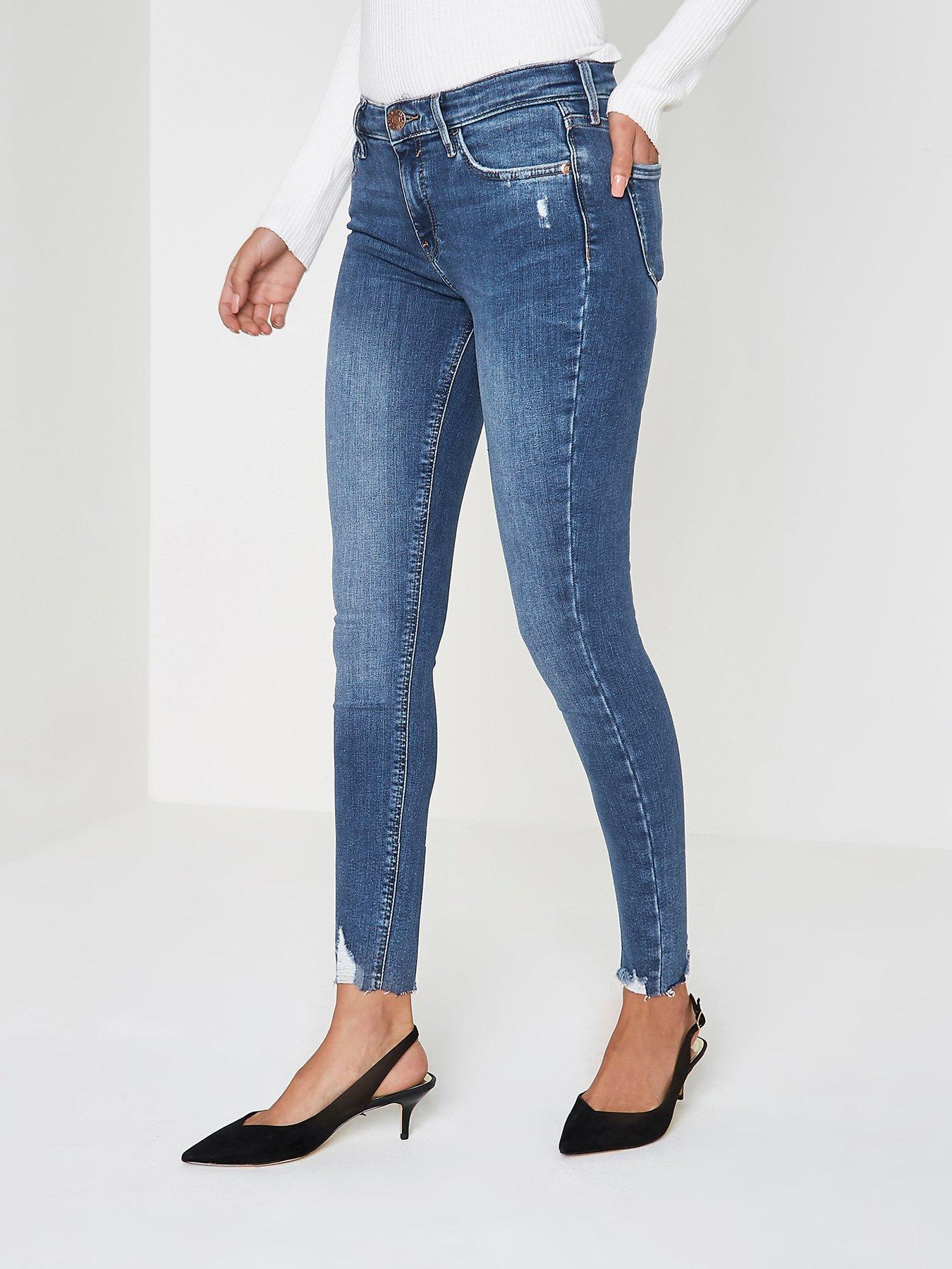 Blue skinny jeans mens river island