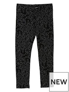 dkny-girls-logo-printed-leggings