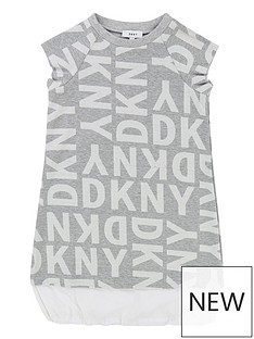dkny-girls-logo-printed-double-layer-dress