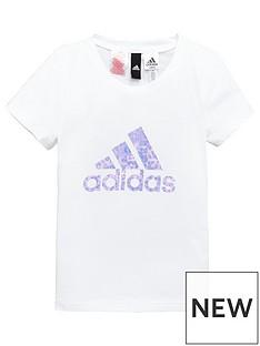 adidas-girls-logo-tee