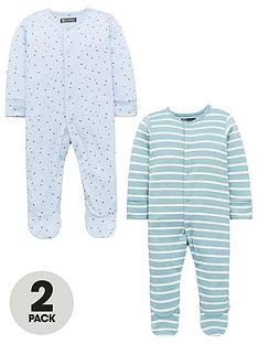 mini-v-by-very-baby-boys-2-pack-3d-ear-sleepsuits