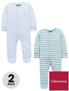 mini-v-by-very-baby-boys-2-pack-3d-ear-sleepsuits