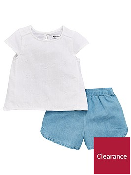 mini-v-by-very-baby-girls-lace-front-top-amp-denim-shorts-set-multi
