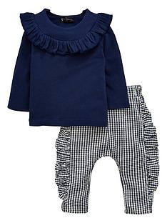 mini-v-by-very-baby-girls-frill-top-amp-frill-gingham-pant-set